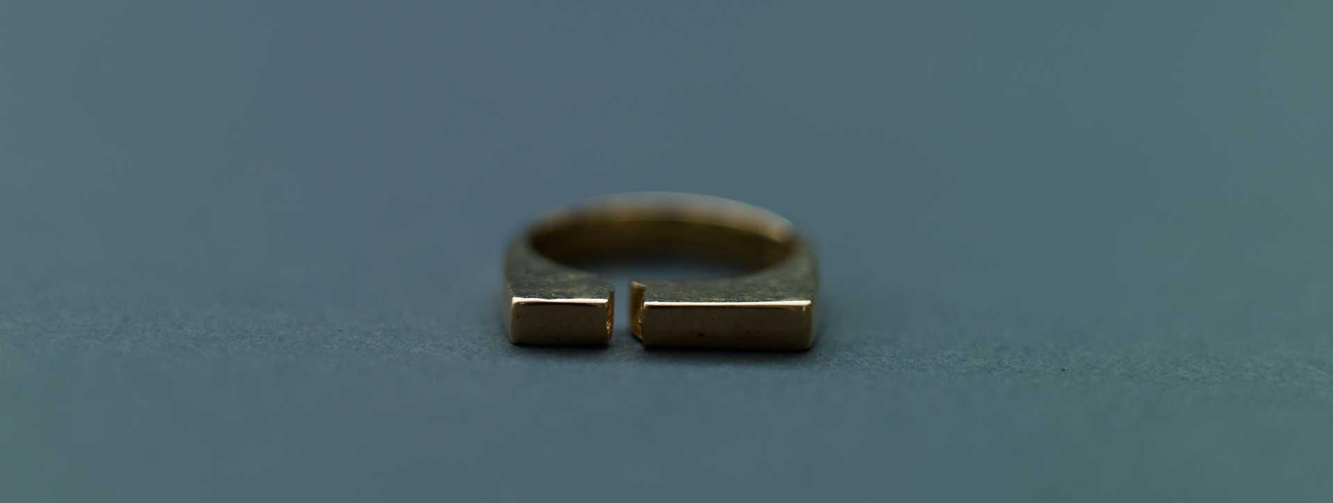 split ring 18k gold plated