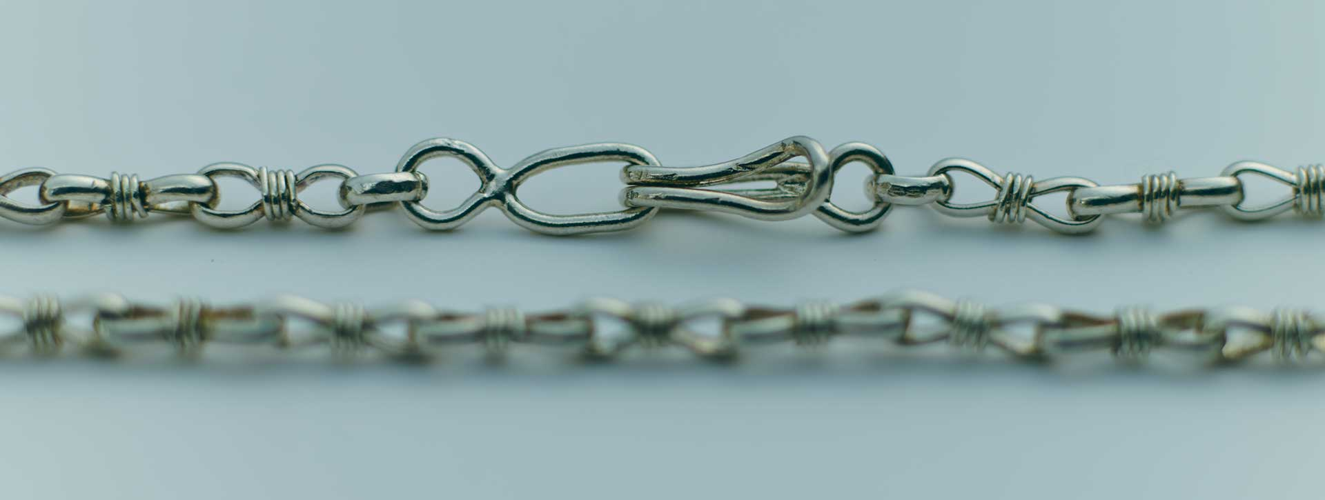 wrapped link chain necklace