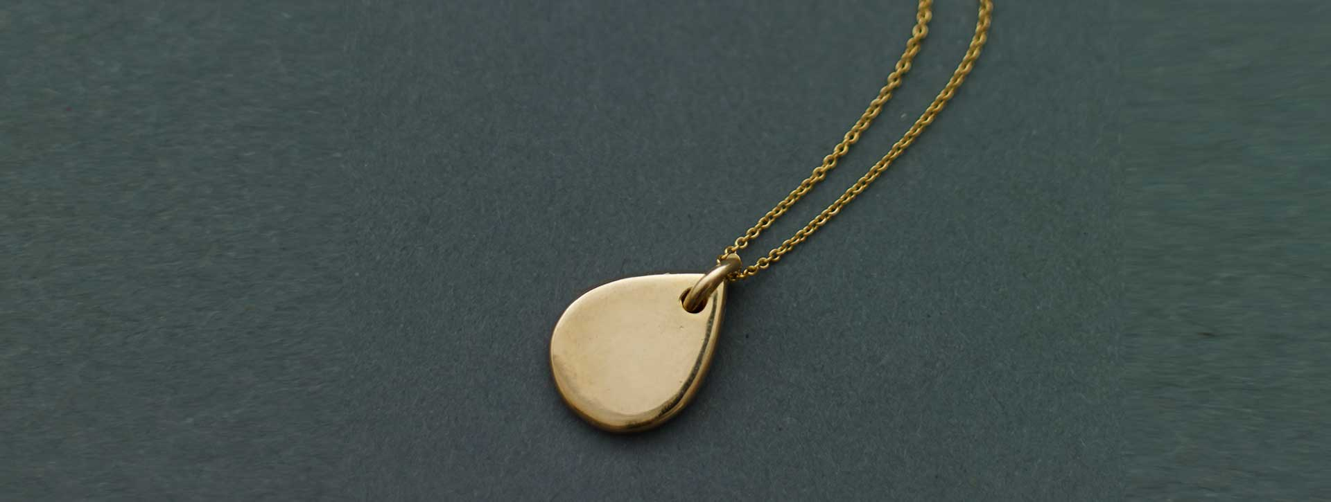 drop necklace 18k gold plated