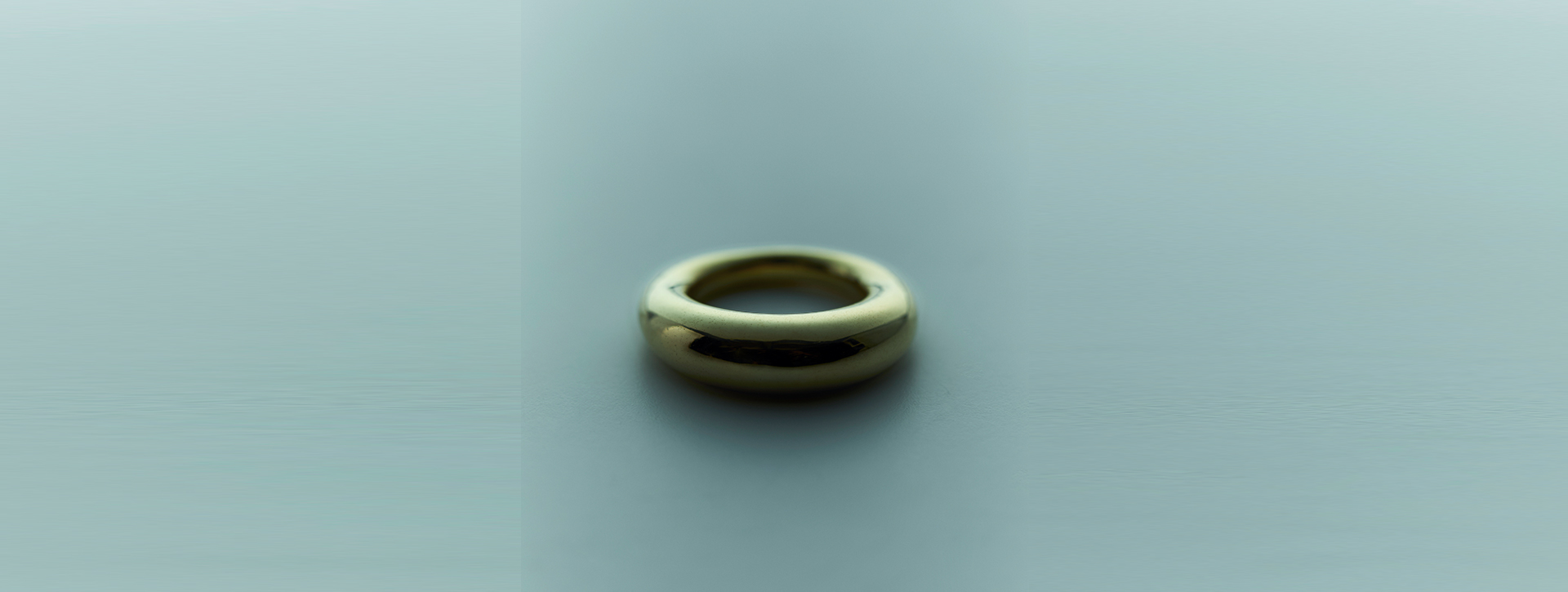 plump ring k18 gold plated