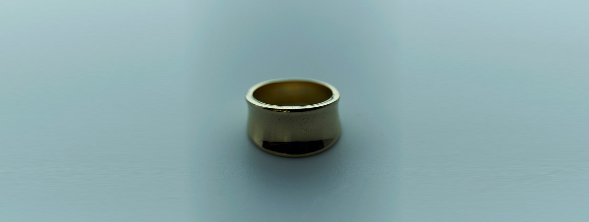 rev round ring k18 gold plated